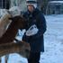 Helen Bachari feeds alpacas in Oamaru. Photo / Helen Bachari